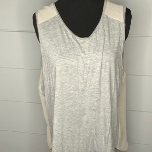 J. Crew gray high low sleeveless top XL